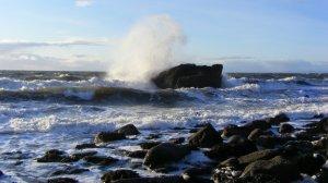 Waves crashing on rocks, Colourful Coast, Cumbria