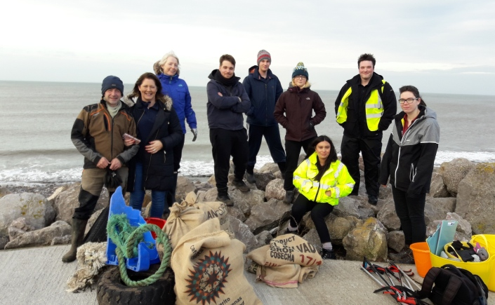 Volunteers and litter collected from Whitehaven North Shore